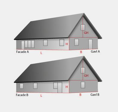 Beregning Er Murstensforbrug. Front Surface Of The House ...